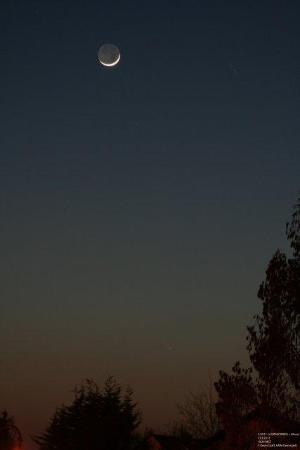 C/2011 L4 PANSTARRS 13.3.2013 Mond