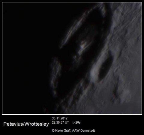 Mond Krater Petavius 30.11.2012