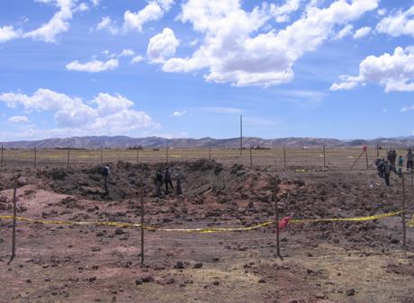 Der Meteoritenkrater von Carancas am 26.09.2007
