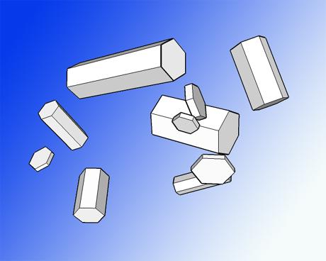 Plättchen- und Säulenkristalle