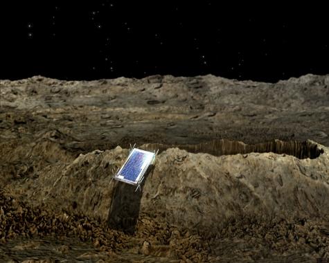 Nanoroboter auf Asteroidenoberflaeche, Quelle ESA