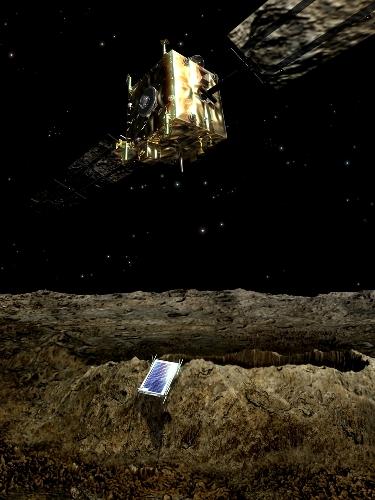 Orbiter setzt Nanoroboter ab, Quelle ESA