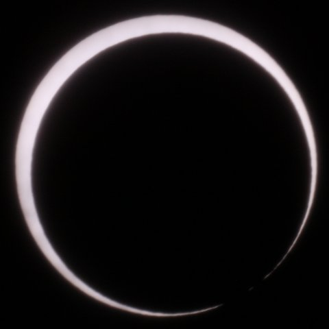The Sun on May 21, 2012, 07:30 Japanese time. End of the annular phase, (c) Michael Khan, 2012