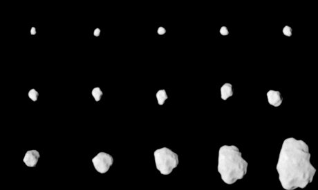 Rosetta OSIRIS NAC images of 21/Lutetia during approach, source: ESA