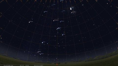 Sternhimmel aus Darmstadt am 29.11.2012, 01:30 MEZ, Quelle: Michael Khan via Stellarium