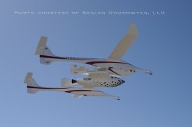Gespann White Knight - Space Ship One, Quelle: Scaled Composites LLC