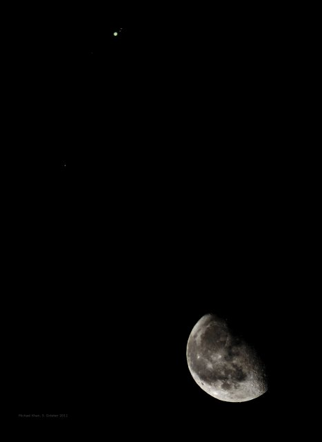 Composite image of the Moon-Jupiter conjunction on October 5, 2012, from Darmstadt, Germany, source: Michael Khan