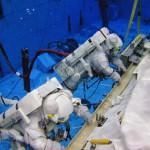 Training für den Weltraumspaziergang - unter Wasser