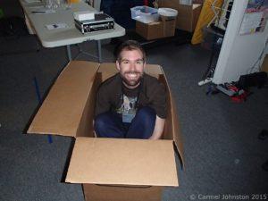 Andrzej, nachdem er im Karton gefunden wurde.