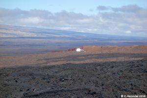 ... mit der Aussicht am Mauna Loa können sie nicht mithalten. Freie Sicht auf Dutzende von Kilometern.