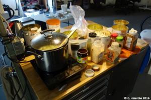 So sieht's aus, wenn ich koche...