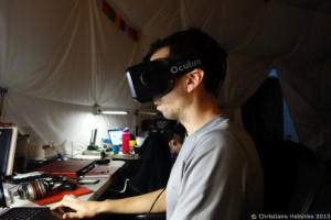 Cyprien taucht für eine weitere Studie ab in die Virtual Reality.