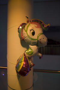 Luftballon in Einhornform, fotorafiert auf dem #33c3