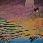 Frau bekämpft ein Seemonster