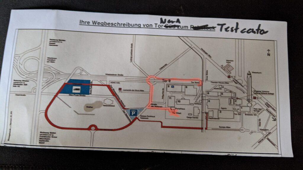 Angepasster Plan zum Testzentrum