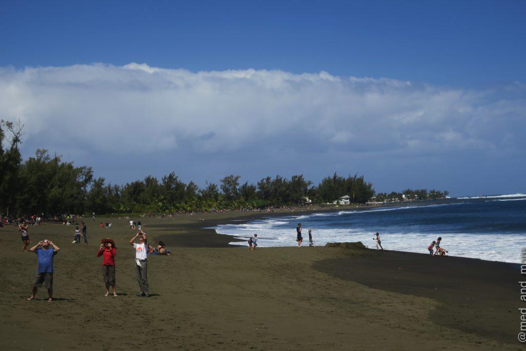 Sonnenfinsternis am l'Étang-Salé, Réunion