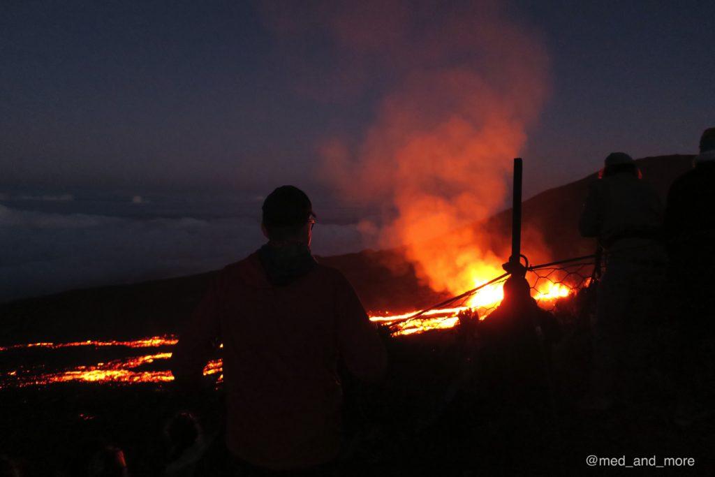Vulkanausbruch auf La Réunion - ein Spektakel, für das es eigentlich keine Worte gibt