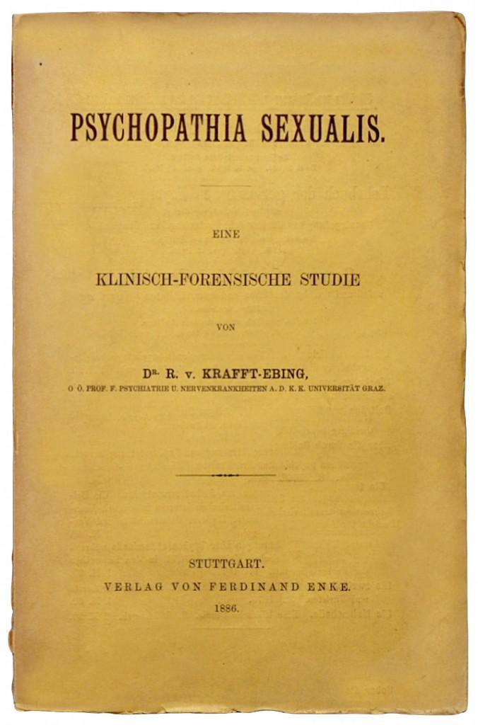 Titelseite des einflussreichen Werks über sexuelle Pathologien.