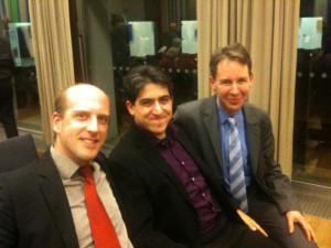 Max Bernlochner, Hussein Hamdan und Hansjörg Schmid haben was zu Feiern! :-)