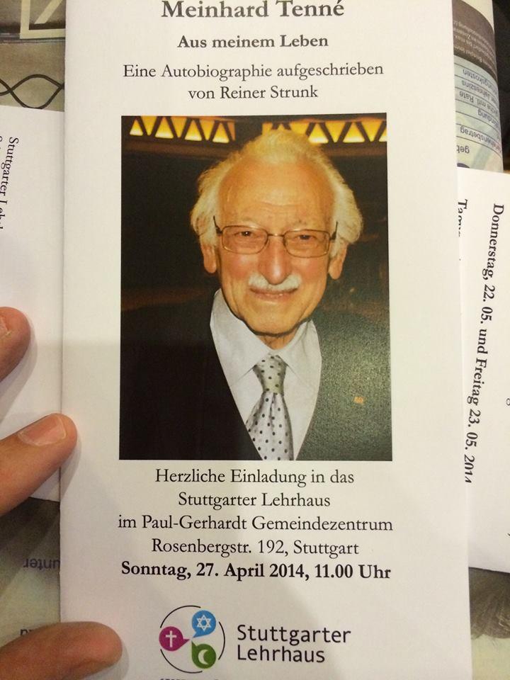 Er fehlt: Meinhard Mordechai Tenne (1923 - 2015)