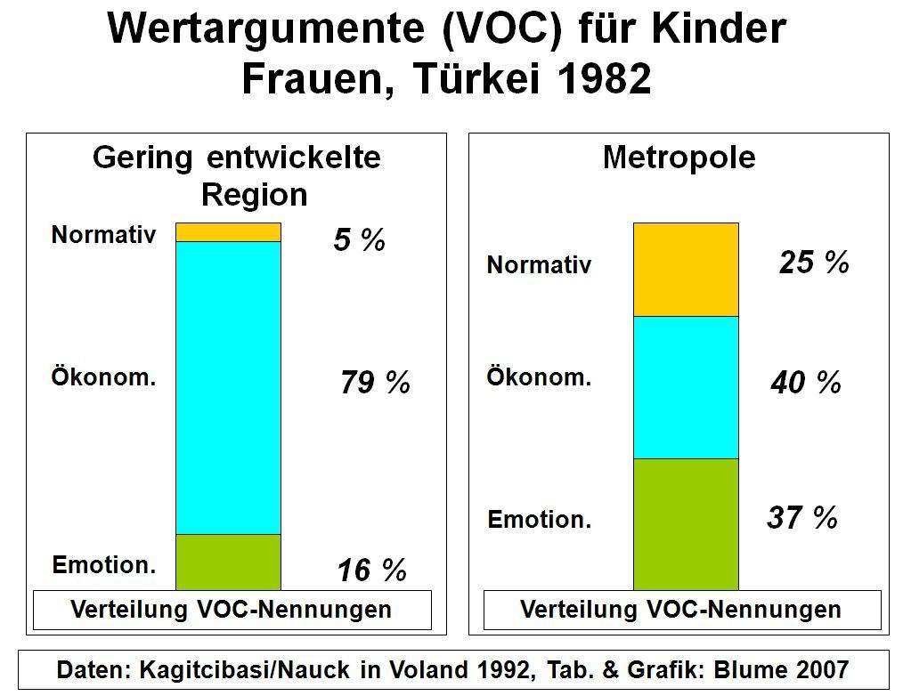 Value of Children in Regionen der Türkei 1982