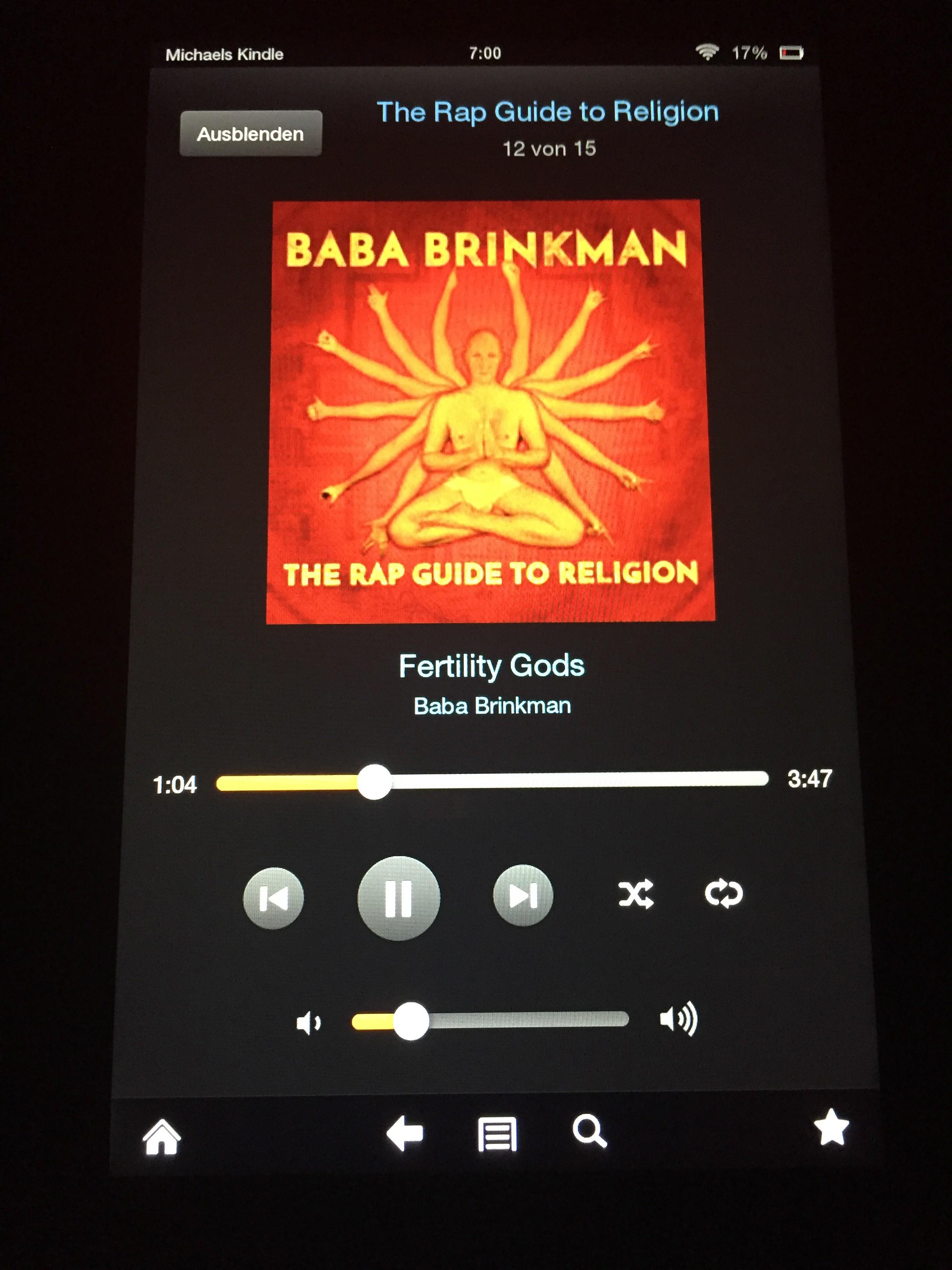 "Baba Brinkman's ""Fertility Gods"" auf dem Kindle"