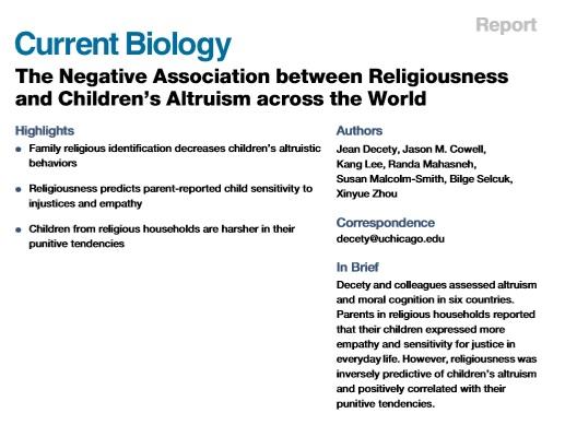 CurrentBiologyNegativeReligiousAltruism
