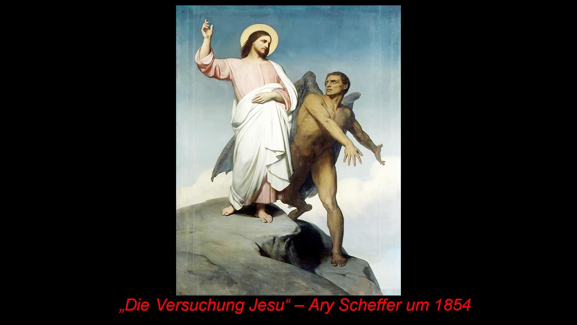 Die Versuchung Jesu nach Ary Scheffer um 1854
