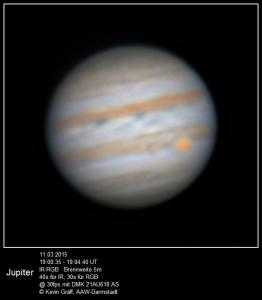 Jupiter am 11.3.2015