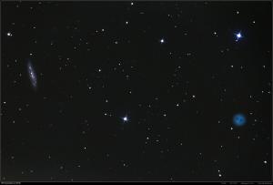 Eulennebel M97 und M108 vom 11.3.2015 Belichtungszeit: 21 min 15 s