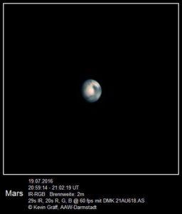 Mars vom 19.07.2016 Brenweite: 2 m