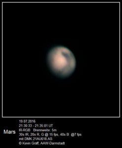 Mars vom 19.07.2016 Brennweite: 5 m