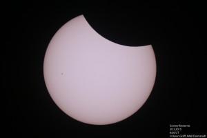 Sonnenfinsternis vom 20.3.2015 Der Mond schiebt sich langsam vor die Sonne