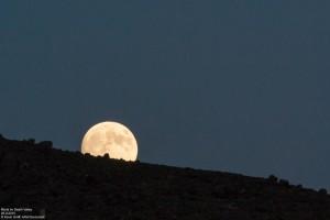 Mondaufgang im Death Valley