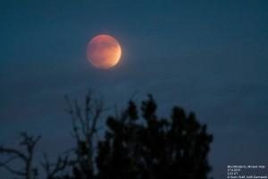 Mondfinsternis über dem Dunst