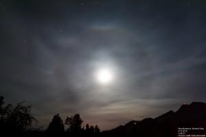 Halo um den Mond