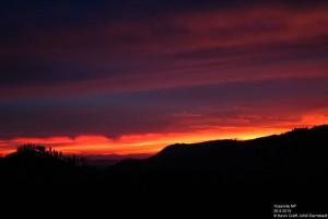 Sonnenuntergang über dem Yosemite-Park