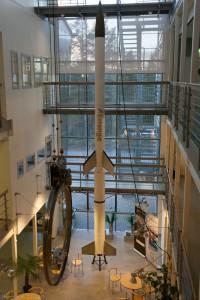 Eine Sounding Rocket im Aufenthaltsbereich des IRF