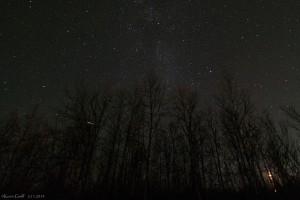 Ein Meteor über Kiruna