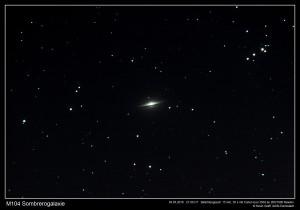 M104 - Die Sombrerogalaxie