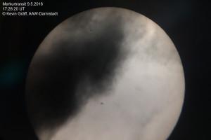Merkur hinter Wolken, aufgenommen mit dem Smartphone