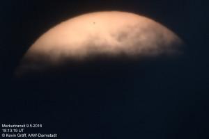 Merkur kurz vor dem Austritt