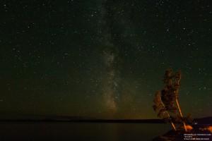 Die Milchstraße über dem Yellowstone Lake