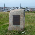 Gedenkstein für Werner Heisenberg auf Helgoland