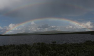 Regenbogen in Lappland