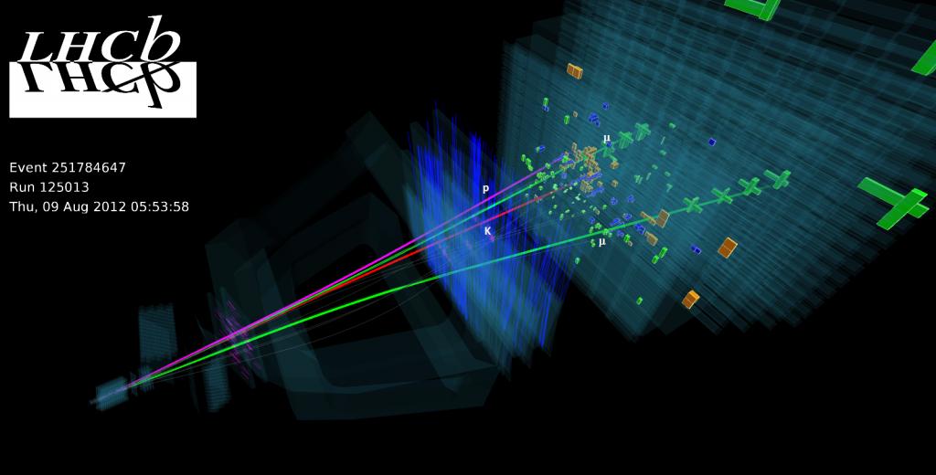 Zerfall eines Lambda-b-Teilchens