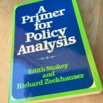 """Foto: Buch """"A primer for policy analysis""""- dort geht es u.a. um Modellrechnungen als Grundlage für politische Entscheidungen"""