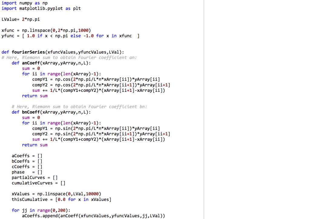 Was beim Programmieren übrig blieb: Ausschnitt aus einem Python-Programm mit zwei Importen und einer längeren Funktionsdefinition