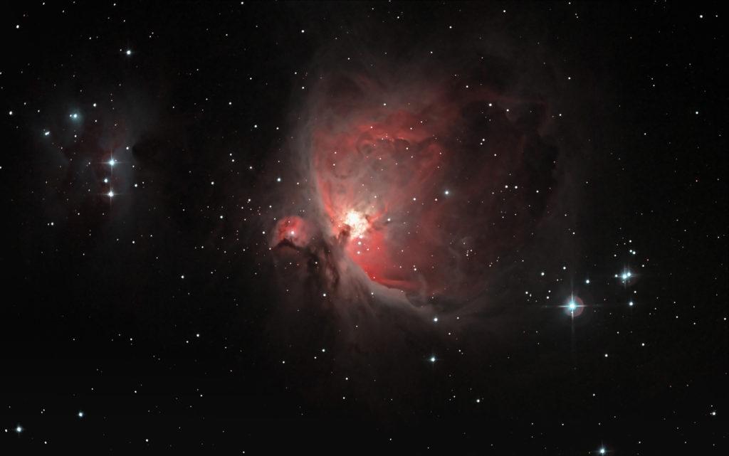 Bild des Orion-Nebels: Auch digitale Bildbearbeitung ist streng genommen Astroinformatik.