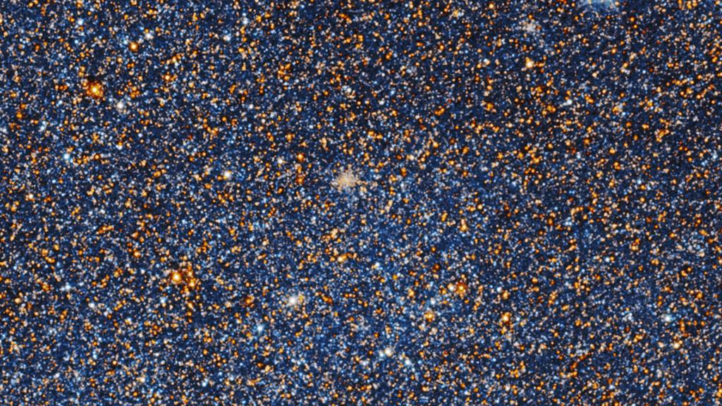 Bläuliche Sterne in der Andromedagalaxie
